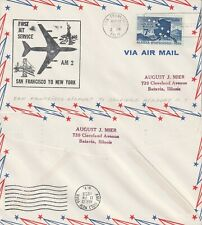 US 1959 JET AM 2 FIRST FLIGHT FLOWN COVER SAN FRANCISCO CALIF TO NEW YORK NY
