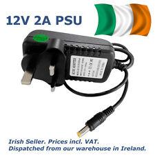 12V 2A AC/DC Power Adapter Supply UK Ireland 100-240VAC 2000mA standard DC plug
