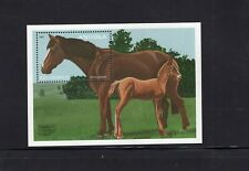 Angola 1997 Thoroughbreds Horse and Colt Minisheet  MNH  Sc 996