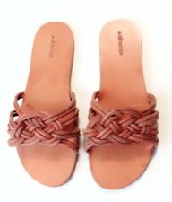 $415.00 A Detacher Martha Sandal Genuine Woven Leather Slide Sandals Size 7