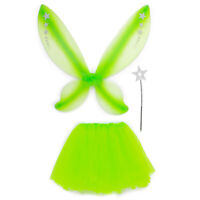 Green Fairy Princess Pixie Butterfly Princess Tutu Wings and Wand Pretend Play