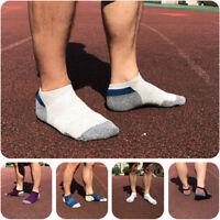 5 Pairs Men's sport Crew Quarter Combed Cotton Ankle Casual Dress Socks 7-12
