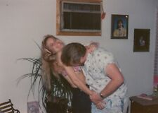 Vintage Photo Snapshot Guy Biting Girls Breast 1980s Strange Bizarre Picture