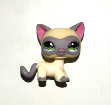 Littlest Pet Shop Animal Cream Grey Short Hair Siamese Cat Figure Child Toy