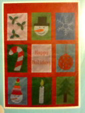 Christmas Outdoor 9 Pane Different Holiday Designs Lrg 28 X40 Flag Free Ship