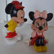 Vintage Mickey Minnie Figures SQUEEZE SQUEAK Toys Lot Playskool Secret Telling