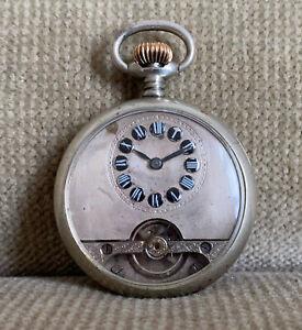 HEBDOMAS 8 Jours  8 Tage  Taschenuhr  49 mm ca. 1900 mit Defekt