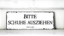 Shabby Schild Vintage WENDESCHILD Nostalgie weiß Tafel BESETZT//FREI