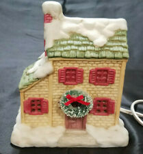 Vintage 1990 Seasonal Christmas Village Lighted House, Made in Philippines