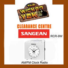 Sangean FM/AM/Digital Tuning Clock Radio+Aux In/Headphone Jack-RCR-9W+AUS WNTY