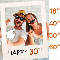 18th 30th 40th 50th 60th Birthday/Party Paper Frame Anniversary Photo Booth Prop