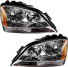New Headlights (Chrome) Set Pair for 2005-2006 KIA Sorento (w/o Sport Package)