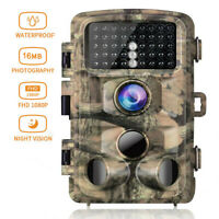 Campark Trail Game Camera FHD 1080P 16MP Hunting Wildlife Cam 3 PIR Night Vision