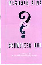 La publicidad reloj suizo suiza perpetuum mobile folleto relojes chronograph