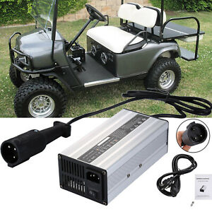 48 Volt 48V Golf Cart Battery Charger w/ 3 Pin Plug for Yamaha E-Z-GO Club Car