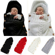 0-6 MONTHS INFANT KNITTED NEWBORN BABY SLEEPING BAG SWADDLE BLANKET WRAP SMART