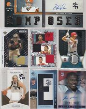 HUGE GAME USED PATCH AUTOGRAPH COLLECTION LOT ALL NUMBERED 100 AND UNDER