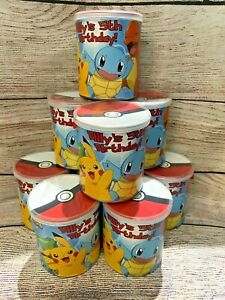 6 Pokemon Pringles Can Labels Wrappers w/ tops Birthday Party Supplies Favors