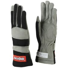 RaceQuip 351006 X Large 1 Layer Black Auto Racing Driving Gloves Nomex SFI Rated