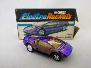 Corgi Electro Rockets 4000 Ital Design Bizzarrini Manta with Original Box