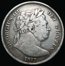 More details for 1817 | george iii half crown 'large head' | silver | coins | km coins