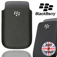 Genuine BlackBerry Pocket Case for Bold 9700 9780 Curve 9300 Leather Pouch Black