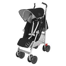 Maclaren Techno XT stroller in black and silver