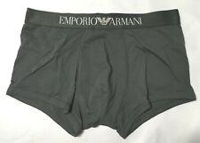 Emporio Armani men's Iconic logoband trunk Anthracite Underwear Gray Size XL