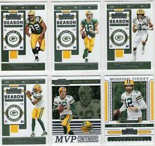 2019 Panini Contenders Green Bay Packers MASTER Team Set (6 Cards) Aaron Rodgers