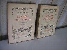 Jacques BAINVILLE : LE JARDIN DES LETTRES 1929 illustrations de GOOR
