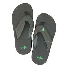 Sanuk Mens Brumeister Sandals Black 8 New