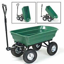 75L heavy duty garden trolley panier benne tipping trailer dump brouette camion