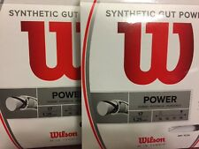 2 Pack Wilson Synthetic Gut Power 17 Tennis String Set - White