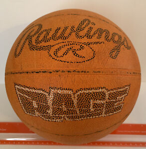 "Rawlings Basketball Ball Rage Rubber Street Official Size 29.5"" Orange Vintage"