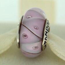 Authentic Pandora 790922 Rose Pink Looking Murano Glass Bead Charm