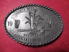 1995 County Weed Directors Association of Kansas Belt Buckle Quackgrass #182