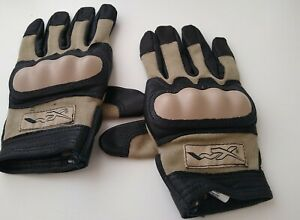 Wiley X CAG-1 Med Coyote Cut Resistant Goatskin Leather Combat Assault Gloves