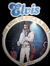 elvis presley vtg t shirt king of rock n roll 1977 made in usa rare collectors