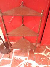 Angoliera in legno 3 ripiani anni 80 PROVENIENTE DA SGOMBERO