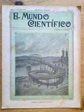 ANTIGUA REVISTA AÑO 1904 MUNDO CIENTIFICO,SORPRENDENTES NOTICIAS,PUBLICIDAD.218