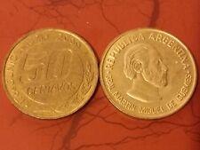 Argentina 50 Cents 2000 180th Death of Gral. Martín Miguel de Güemes Coin
