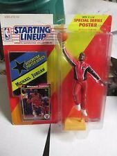 "1992 STARTING LINEUP NBA MICHAEL JORDAN - FIGURE, POSTER & CARD CHICAGO BULLS 7"""