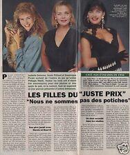 Coupure de presse Clipping 1994 Les Filles du Juste Prix Delorme (1 page 1/3)