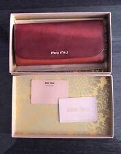 Miu Miu Red Bicolor Madras Wallet