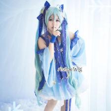 Hot Style Miku for VOCALOID Vogue Light Blue Short Haar Damen Cosplay Wig +Cap