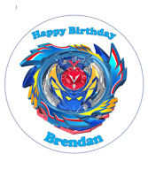 Beyblade personalised edible Image cake topper 19cm #82