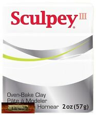 M01024 MOREZMORE Sculpey III WHITE 2 oz Polymer Oven-Bake Clay 001 T20