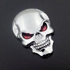 3D Metal Skull Bone Auto Car Decor Emblem Badge Decal Sticker Unique Silver YU
