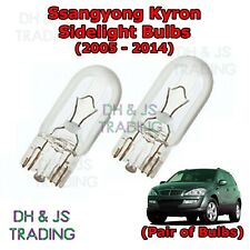 Ssangyong Kyron Front Sidelights / Parking Lights Side Light Bulb Bulbs (05-14)