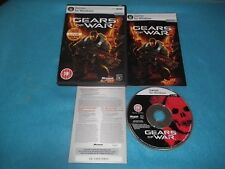 GEARS OF WAR PC-DVD V.G.C. FAST POST COMPLETE ( includes 1 month live gold trail